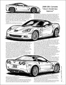 Illustrated Corvette Series book page