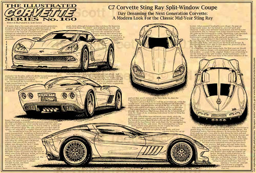 C7 Corvette Concept Vette magazine Teeters 2 page spread art