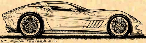 K. Scott Teeters C7 Corvette Concept Art