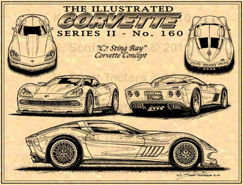 ICS 160 2 C7 Corvette Concept Art by K. Scott Teeters