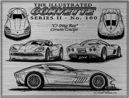 ICS 160 2 C7 Corvette Concept Art Laser Version by K. Scott Teeters