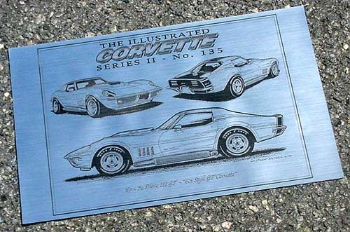 Corvette Laser Art prints