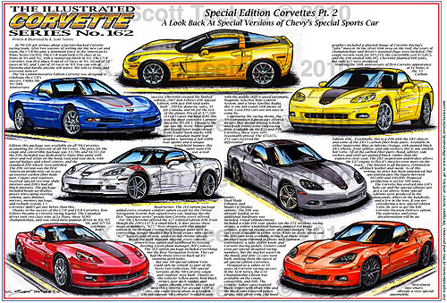 Illustrated Corvette Series No. 162 - Special Edition Corvettes Part II