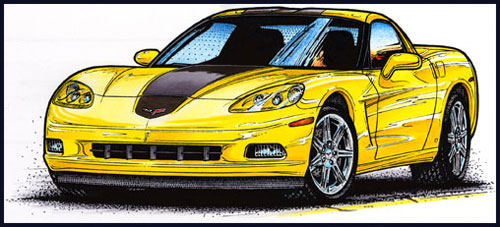 2008 Hertz ZHZ Rental Corvette