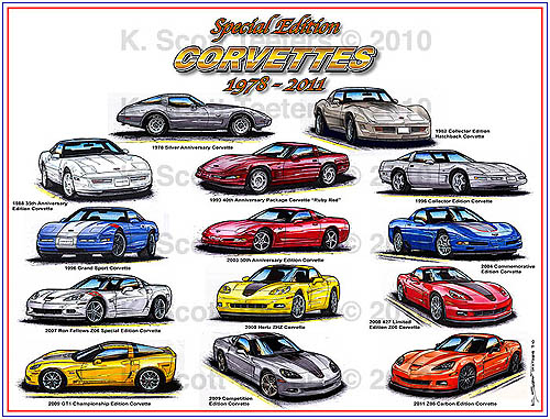 1978 to 2011 Special Edition Corvettes