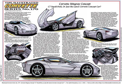 Illustrated Corvette Series No 170 Corvette Stingray Concept