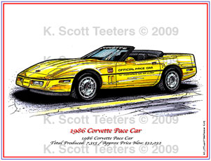 Corvette Pace Car Files: 1986 Indy 500 Pace Car Corvette