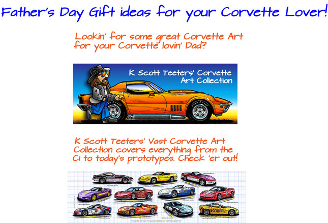 Father's Day Gift ideas for Corvette Lovers Corvette Gifts for Dads