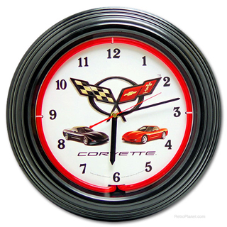 Corvette Clock retro