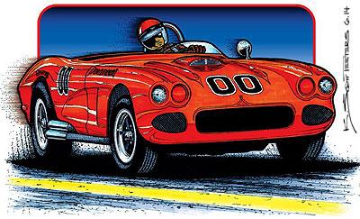 1961-chevrolet-corvette-sketch-front-view