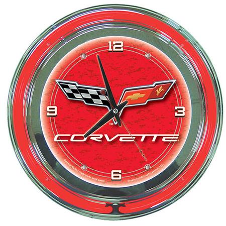 Corvette C6 Neon Clock
