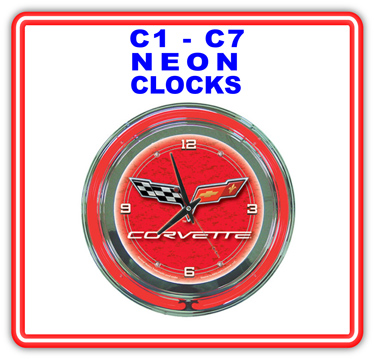 Corvette Neon Clocks