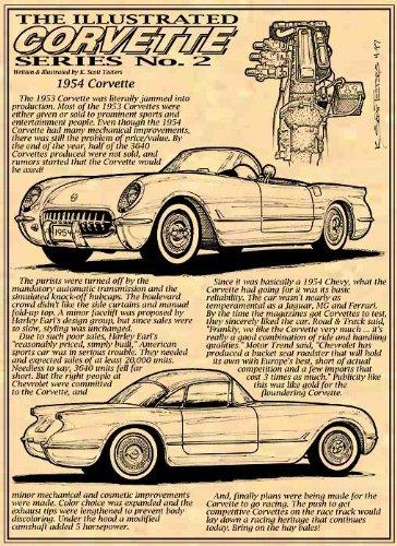 1954 C1 Corvette Art print
