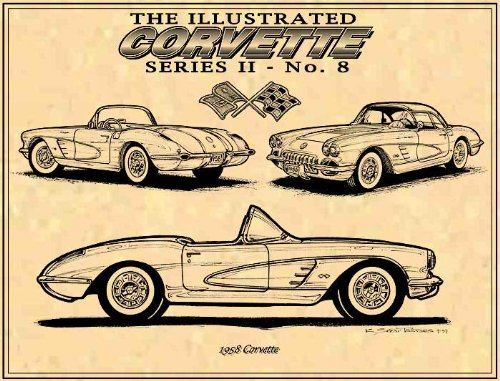 1958 Corvette Art print