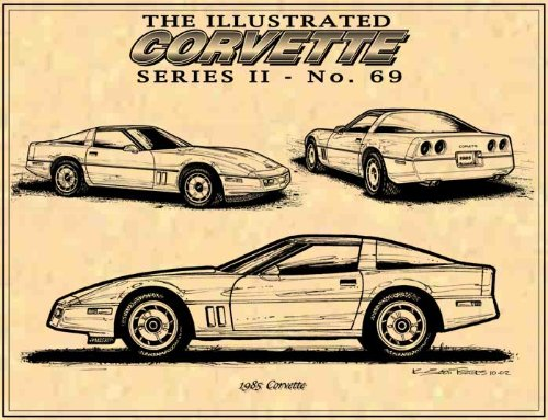 1985 Corvette Art print