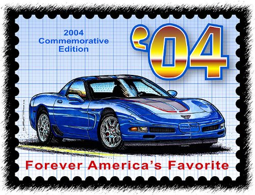 2004 Corvette print