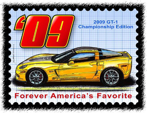 2009 Corvette art print