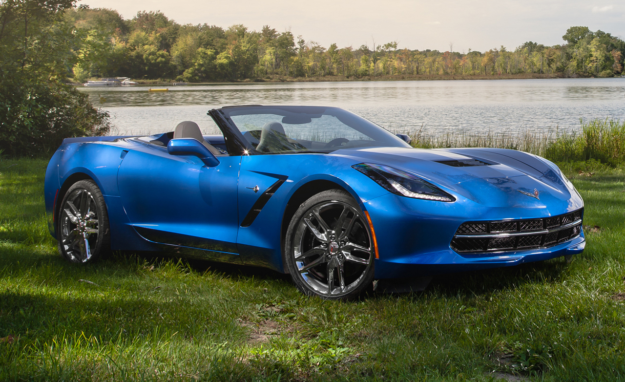 couple test drive sporty 2015 corvette stingray convertible. Black Bedroom Furniture Sets. Home Design Ideas