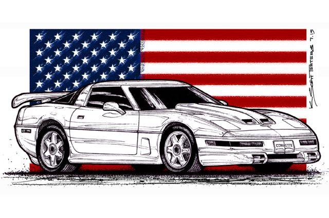 corvette-illustration-front-side-view