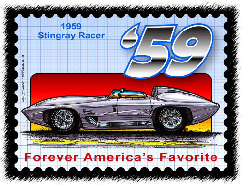 1959-Sting-Ray-Racer-Stamp