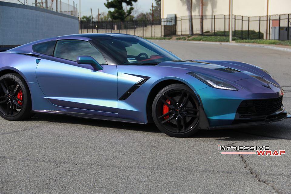 lavender turquoise corvette stingray 1 - Corvette Stingray Light Blue