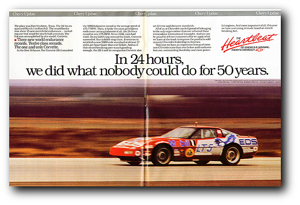 Morrison 1990 ZR-1 Speed Record: Aver 24-Hour 174 885-MPH!