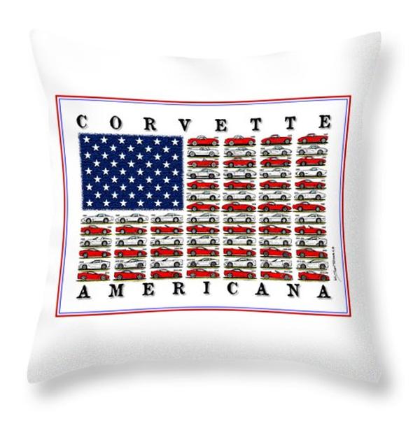 Corvette Americana Pillow