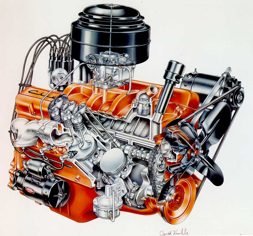 engine history made 100 000 000 small block chevy engines and counting