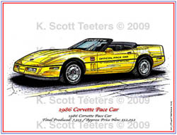 Indy 500 Corvette Pace Car of 1986