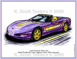 Indy 500 Corvette Pace Car of 1998