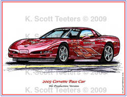 Indy 500 Corvette Pace Car of 2003