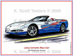 Indy 500 Corvette Pace Car of 2004