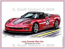 Indy 500 Corvette Pace Car of 2005
