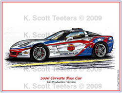 Indy 500 Corvette Pace Car of 2006
