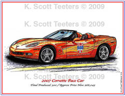 Indy 500 Corvette Pace Car of 2007