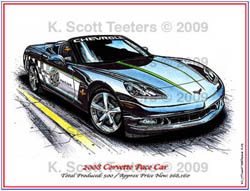 Indy 500 Corvette Pace Car of 2008