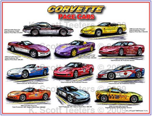 Indy 500 Corvette Pace Cars Montage
