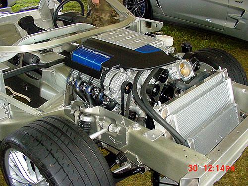 Closde up of the ZR1 Engine