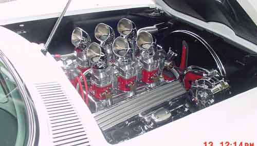 Holley Carburetors modified to look like classic Strombergs