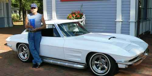 Jonathan Settrella and his 63 Corvette Split Window Coupe Best in Show
