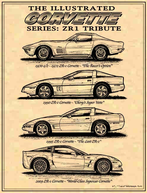 ZR1 Tribute Art by K. Scott Teeters