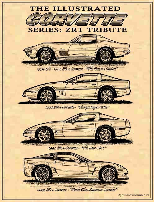 ZR1 Tribute Art by K. Scott Teeters