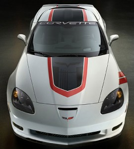 2010 Grand Sport Corvette Top View