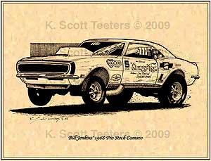 """Bill """"Grumpy"""" Jenkins 1968 Pro Stock Camaro by K. Scott Teeters"""